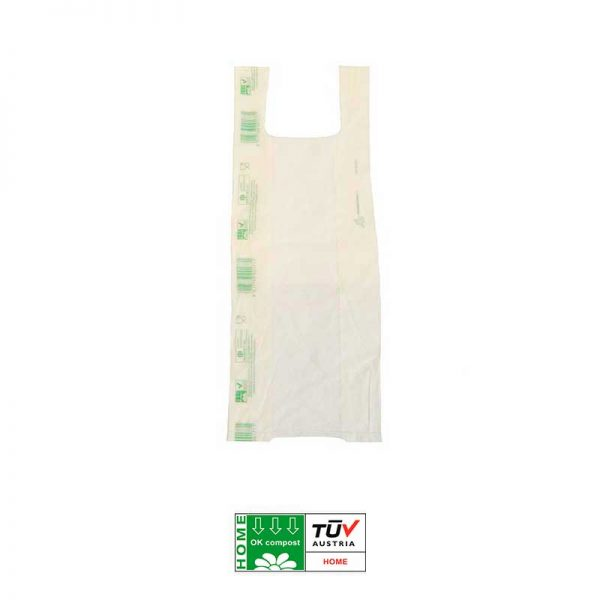 Bolsa de camiseta compostable biodegradable