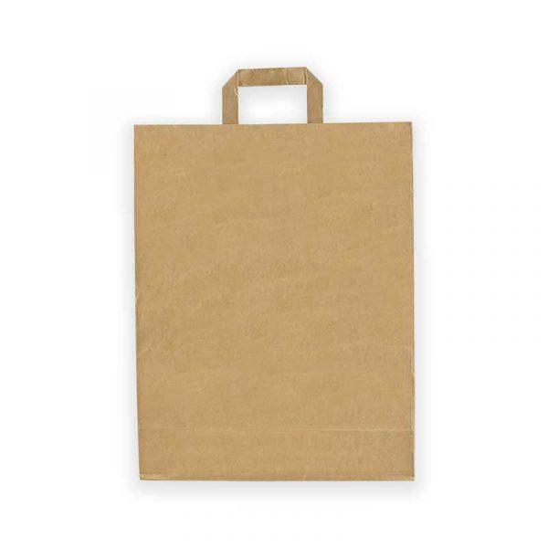 Bolsa de papel con asa plana