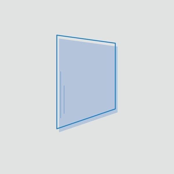 Plástico azul alimentación