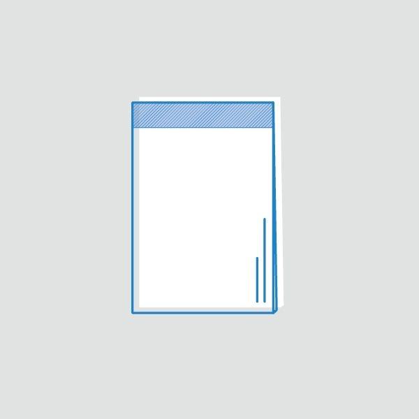 Bolsa con solapa adhesiva