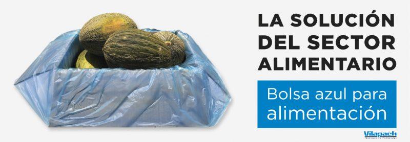 plástico azul para alimentación