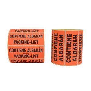 Etiquetes conté albarà