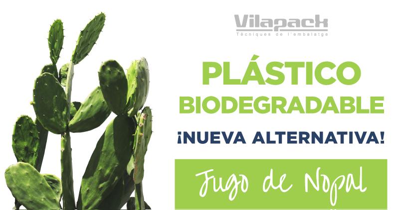 Plástico biodegradable con jugo de Nopal