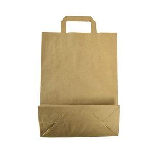 Bolsa papel kraft con asa plana