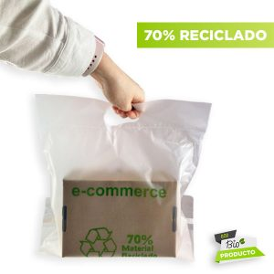 Sobres de plástico reciclado
