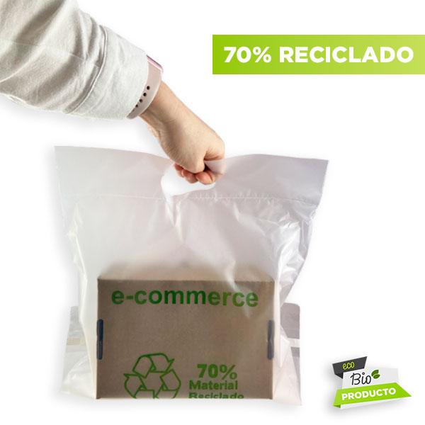 Sobres de plástico 70% reciclado para envío