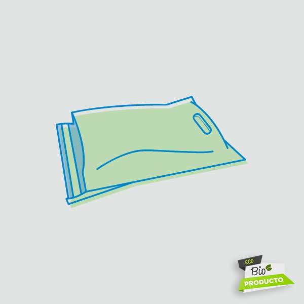 Bosses amb solapa adhesiva biodegradable