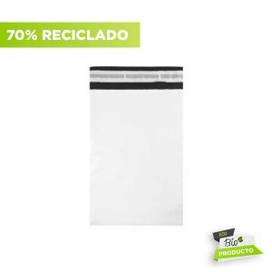 Sobres de plástico reciclado blanco