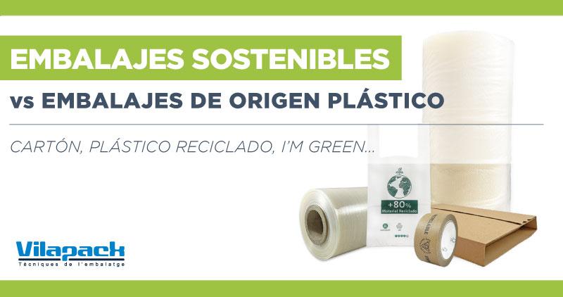 Reducir embalaje fabricado con plástico