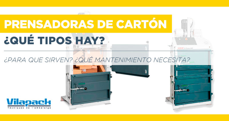 tipos de prensadoras de cartón
